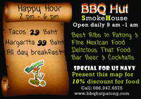 Navy League Supporting Member BBQ HUT  SMOKEHOUSE